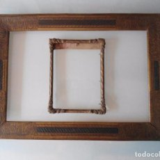 Antigüedades: PAREJA ANTIGUAS MOLDURAS PARA CUADROS. Lote 100295439