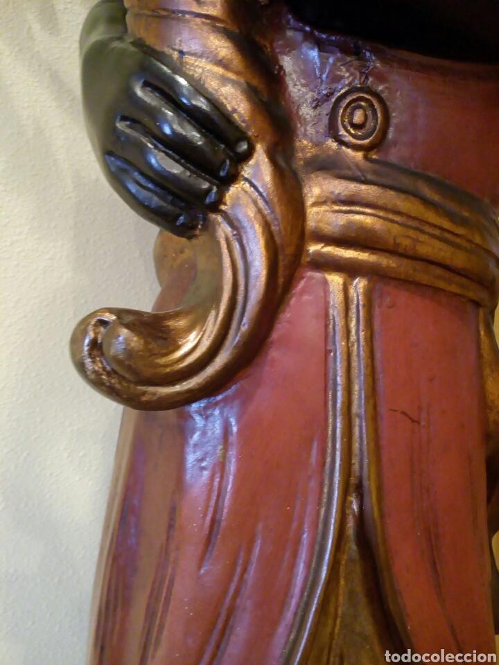 Antigüedades: LÁMPARA VENECIANO, BLACKAMOOR, ART DECO, TORCHERO, ORIENTALISTA, VENECIA, NEGRO - Foto 10 - 100309511