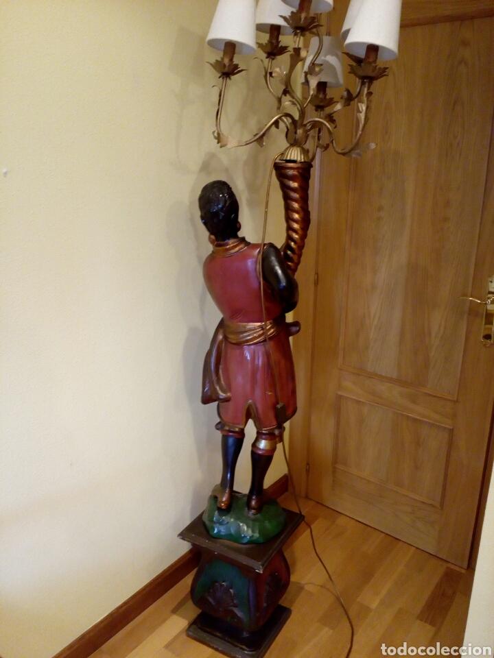 Antigüedades: LÁMPARA VENECIANO, BLACKAMOOR, ART DECO, TORCHERO, ORIENTALISTA, VENECIA, NEGRO - Foto 16 - 100309511