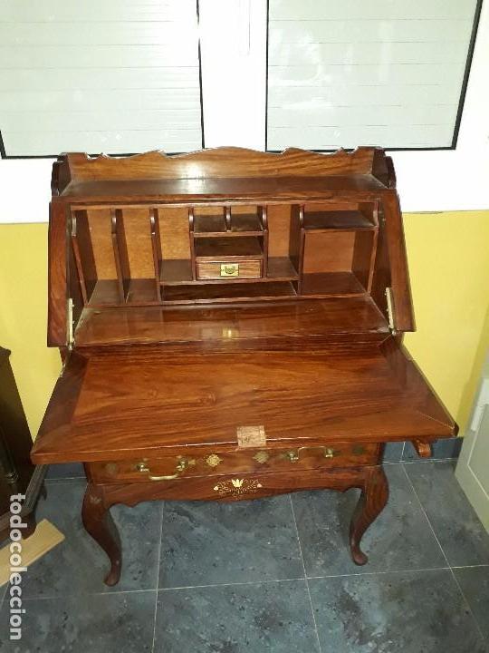 Antigüedades: ANTIGUO ESCRITORIO DE MADERA DE ROBLE - Foto 8 - 100317455