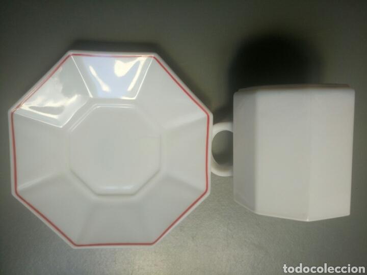 Antigüedades: Taza de desayuno y plato arcopal yoplait años 80 nuevo en su caja - Foto 3 - 100323047