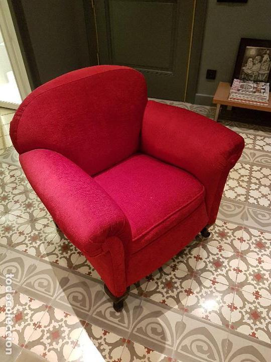 Sill n vintage restaurado y tapizado comprar sillones antiguos en todocoleccion 100353643 - Sillones antiguos restaurados ...
