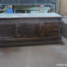 Antigüedades: ARCA O CAJA DE NOVIA CATALANA DE NOGAL, TAL CUAL SALE DE LA CASA, SIGLO XVIII. Lote 100356979