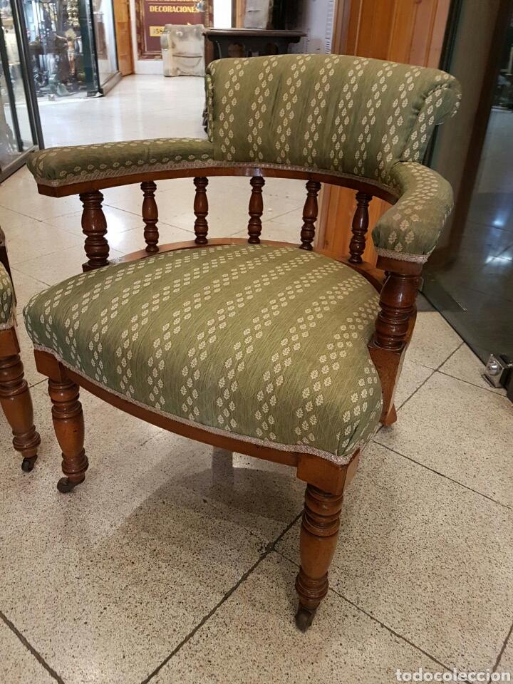 Antigüedades: Pareja de sillones americanos en roble principios S.XX - Foto 2 - 100364518