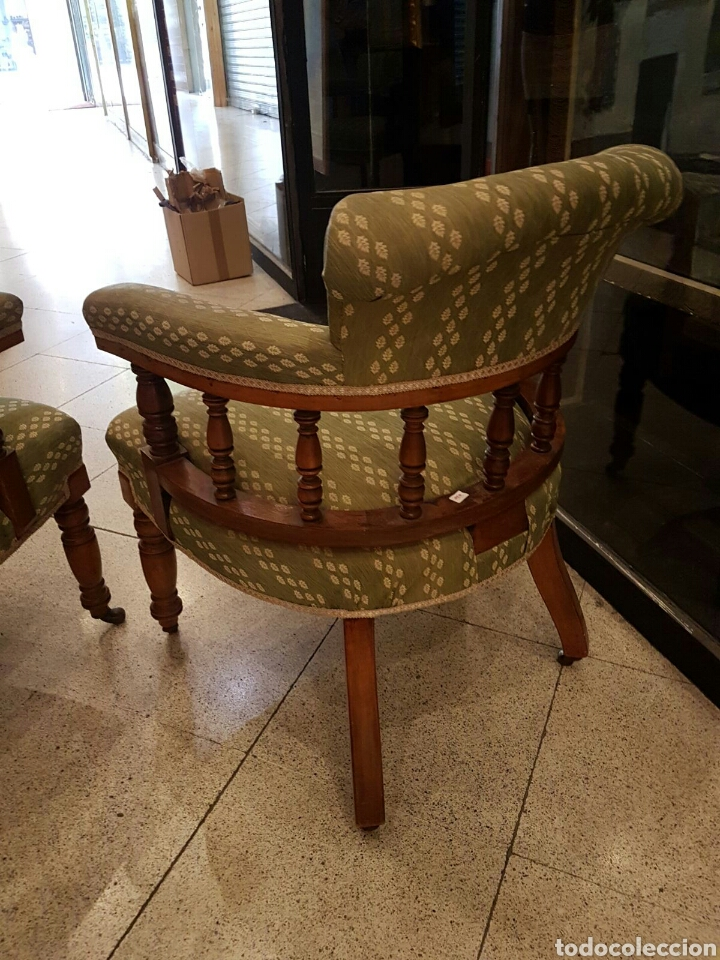Antigüedades: Pareja de sillones americanos en roble principios S.XX - Foto 4 - 100364518