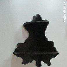 Antigüedades: ANTIGUA ESTANTERÍA RINCONERA - REPISA - ISABELINA - MADERA DE CAOBA - 2 ESTANTES - S. XIX. Lote 100383055