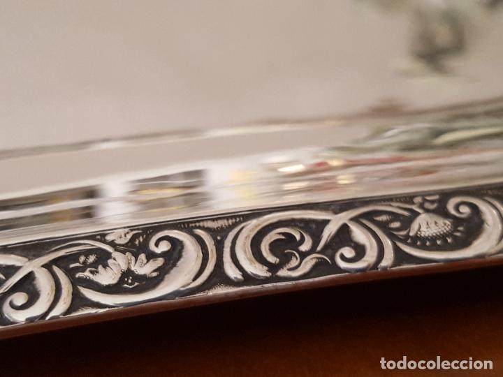 Antigüedades: Bandeja grande de servicio en plata maciza. Marcas de Moscú. Imperio Ruso, 1838-60 - Foto 8 - 100407003