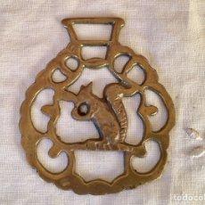 Antigüedades: ANTIGUO ARREO,HEBILLA, AMULETO HIPICA INGLES. Lote 100412794