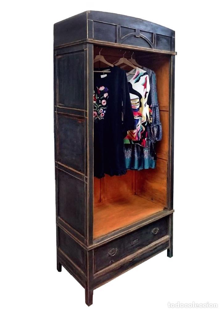 Antiguo armario ropero modernista pintado con comprar armarios antiguos en todocoleccion - Armario ropero antiguo ...