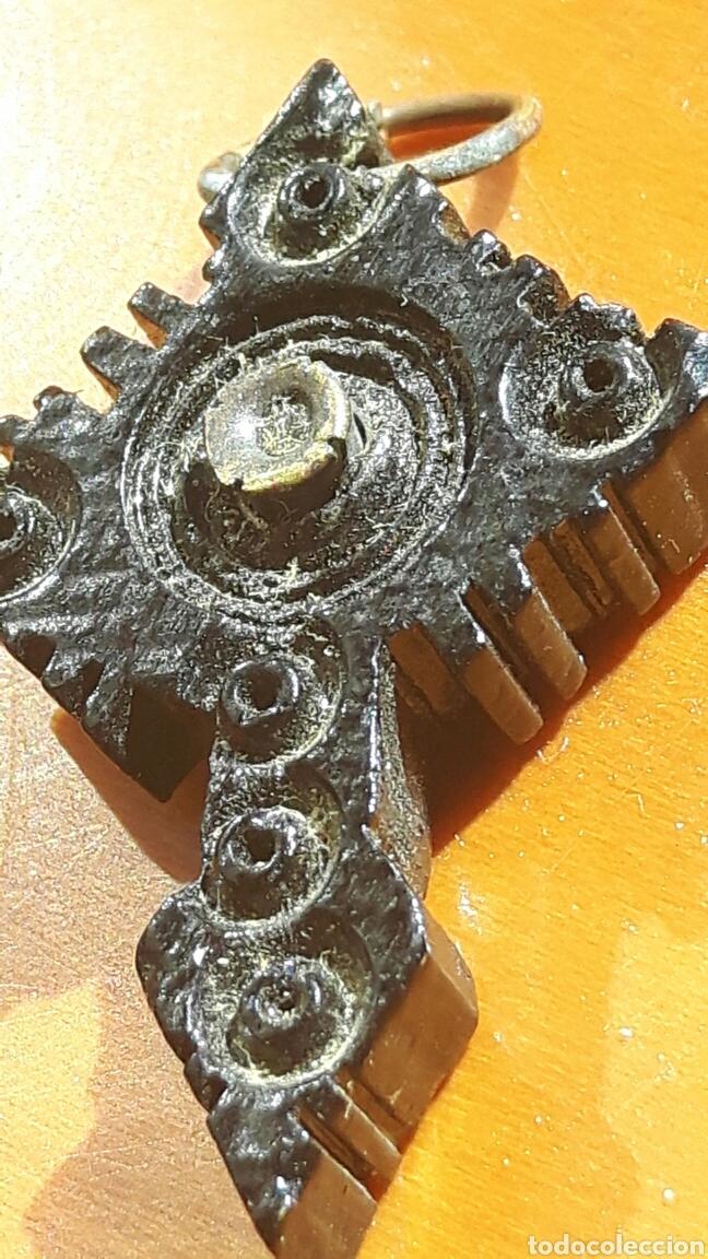 ANTIGUA CRUZ DE BAQUELITA, PRINCIPIOS SIGLO XX (Antigüedades - Religiosas - Cruces Antiguas)
