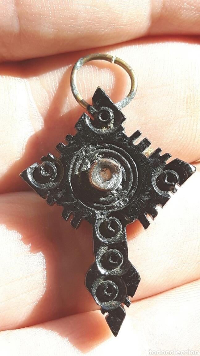 Antigüedades: Antigua cruz de baquelita, principios Siglo XX - Foto 2 - 100425000