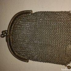 Antigüedades: MONEDERO DE MALLA PLATA LEY. Lote 100427627