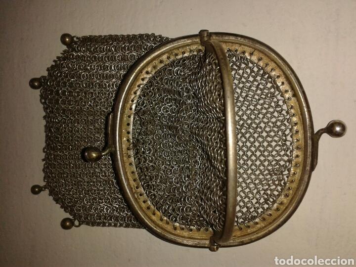 Antigüedades: Monedero de malla plata ley - Foto 2 - 100427627