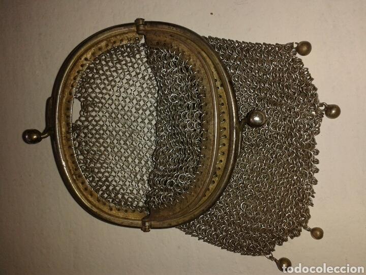 Antigüedades: Monedero de malla plata ley - Foto 5 - 100427627