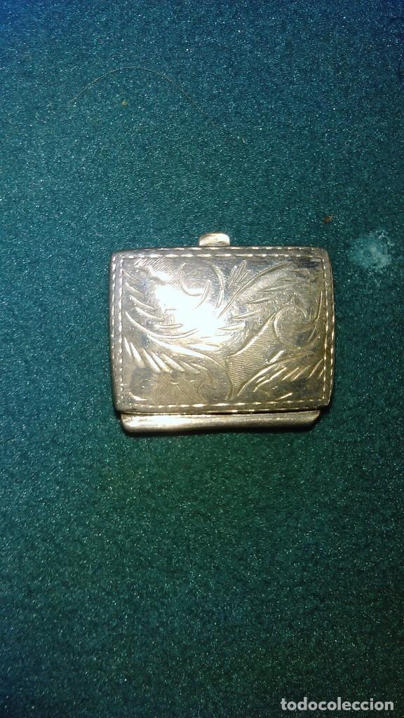 Antigüedades: Cajita de plata cincelada con contraste 925 - Foto 2 - 100496479