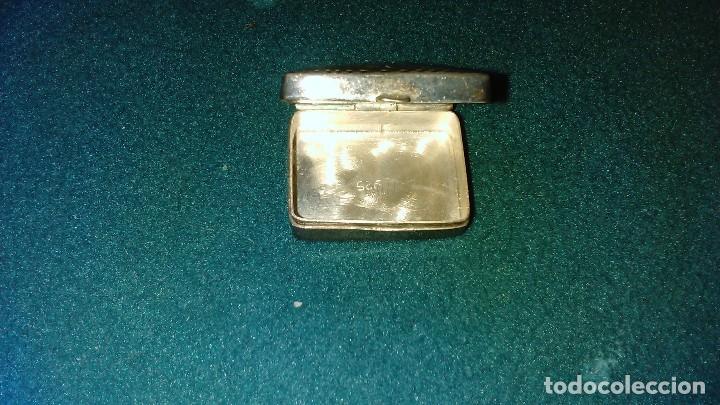 Antigüedades: Cajita de plata cincelada con contraste 925 - Foto 3 - 100496479