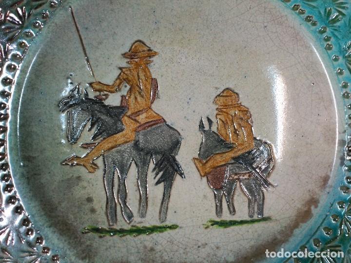 Antigüedades: PLATO DE DON QUIJOTE Y SANCHO PANZA DE CERAMICA GUADIAMURO - Foto 7 - 100508975