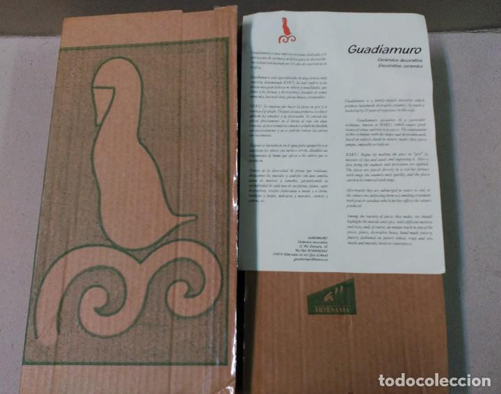 Antigüedades: PLATO DE DON QUIJOTE Y SANCHO PANZA DE CERAMICA GUADIAMURO - Foto 17 - 100508975