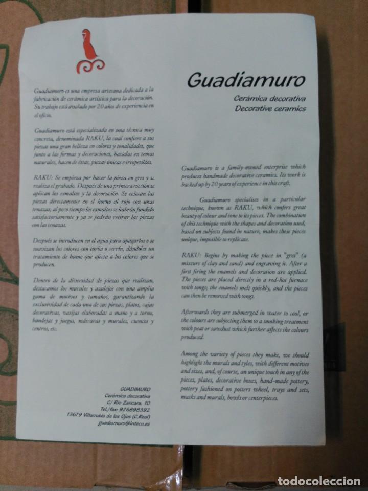 Antigüedades: PLATO DE DON QUIJOTE Y SANCHO PANZA DE CERAMICA GUADIAMURO - Foto 19 - 100508975