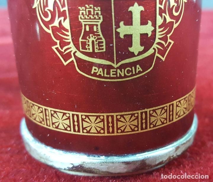 Antigüedades: CONJUNTO DE MECHERO Y CENICERO. METAL ESMALTADO Y PLATA. CIRCA 1950. - Foto 5 - 100514003