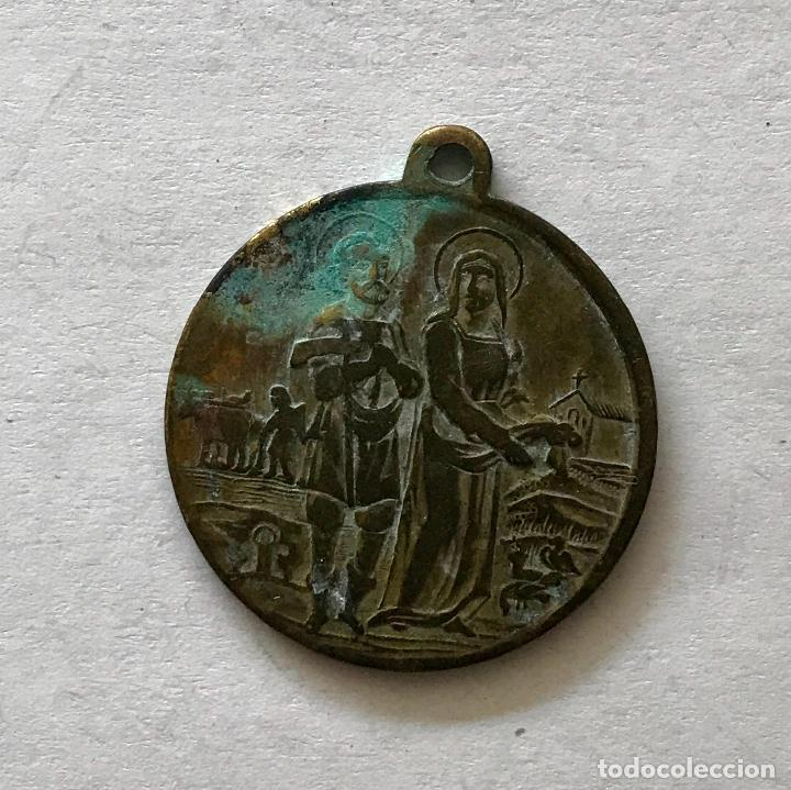 MEDALLA ERMITA DE SAN ISIDRO LABRADOR (Antigüedades - Religiosas - Medallas Antiguas)