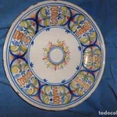 Antigüedades: MAGINIFICO PLATO 34 CM DE CERAMICA DE MANISES DEL SIGLO XIX - ORIGINAL DE EPOCA. Lote 104459108