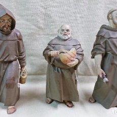 Antigüedades: LOTE DE 3 FRANCISCANOS DE PORCELANA ALGORA, SERIE LIMITADA, VER FOTOS. Lote 100533463