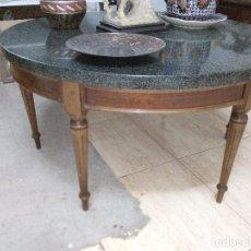 Antigüedades - Mesa madera/piedra estilo victoriano - 100534663