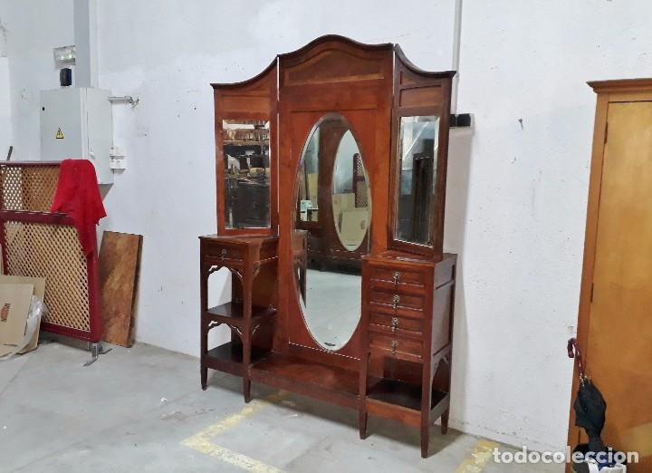 Mueble vestidor antiguo isabelino espejo ovalad comprar - Muebles estilo antiguo ...