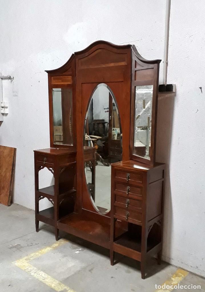 Mueble vestidor antiguo isabelino espejo ovalad comprar - Espejo veneciano antiguo ...