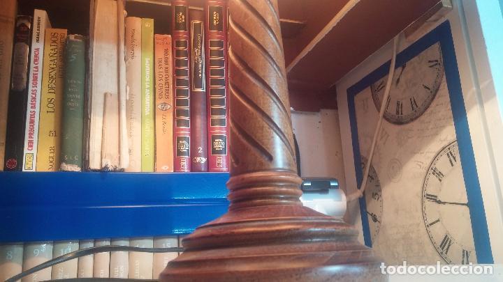 Antigüedades: Estupenda lampara de sobremesa en madera, muy acogedora. - Foto 6 - 100554723