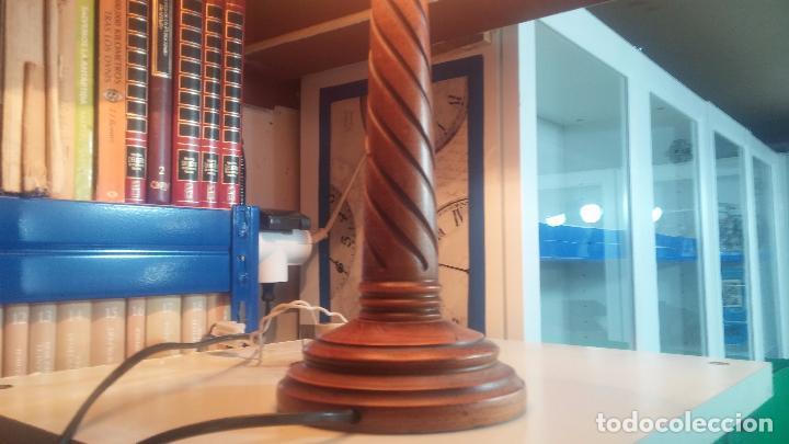 Antigüedades: Estupenda lampara de sobremesa en madera, muy acogedora. - Foto 9 - 100554723