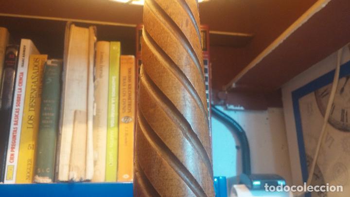 Antigüedades: Estupenda lampara de sobremesa en madera, muy acogedora. - Foto 16 - 100554723