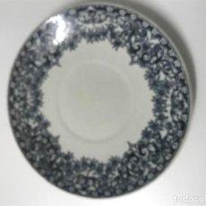 Antigüedades: PLATO LOZA CHINA OPACA SANTANDER. . Lote 100559275