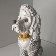 Antigüedades: ALGORA - IMPRESIONANTE PERRO DE CERAMICA VIDRIADA - MODELO UNICO - SELLADO. Lote 100572574