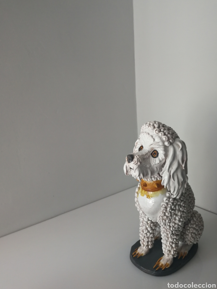 Antigüedades: Algora - Impresionante perro de ceramica vidriada - Modelo unico - Sellado - Foto 2 - 100572574