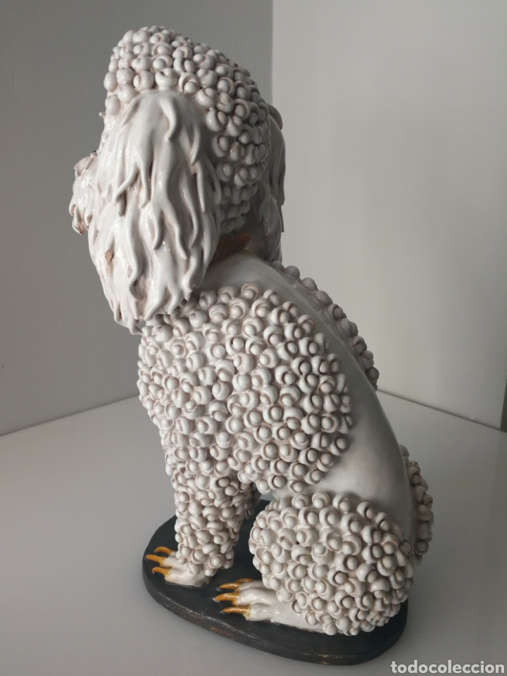 Antigüedades: Algora - Impresionante perro de ceramica vidriada - Modelo unico - Sellado - Foto 3 - 100572574
