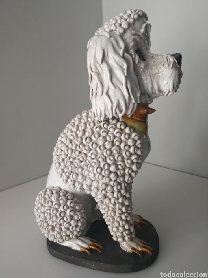 Antigüedades: Algora - Impresionante perro de ceramica vidriada - Modelo unico - Sellado - Foto 6 - 100572574