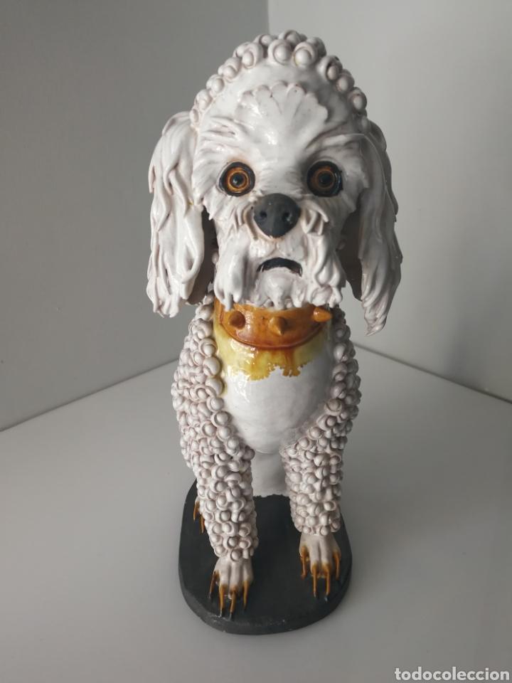 Antigüedades: Algora - Impresionante perro de ceramica vidriada - Modelo unico - Sellado - Foto 7 - 100572574