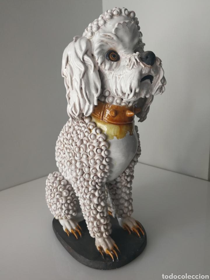 Antigüedades: Algora - Impresionante perro de ceramica vidriada - Modelo unico - Sellado - Foto 8 - 100572574