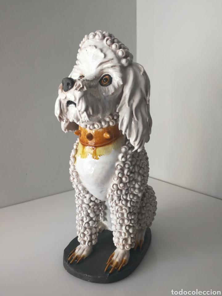 Antigüedades: Algora - Impresionante perro de ceramica vidriada - Modelo unico - Sellado - Foto 9 - 100572574