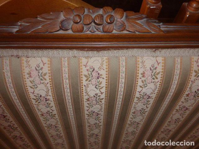 Antigüedades: ANTIGUO SOFA DE DOS PLAZAS EN MADERA TALLADA Y TAPIZADO - Foto 2 - 100580547
