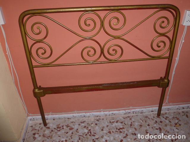 Antigüedades: ANTIGUO CABEZAL DE CAMA DE HIERRO - Foto 2 - 100595507