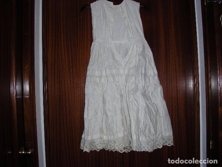 ANTIGUAS ENAGUAS ALGODON CON CUERPO (Antigüedades - Moda y Complementos - Infantil)