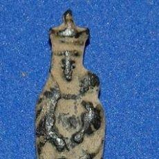 Antigüedades: MEDALLA NUESTRA SEÑORA DEL PILAR SIGLO XVIII/INSIGNIA DE PEREGRINO VIRGEN DEL PILAR-01. Lote 100648927