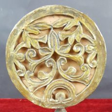 Antigüedades: CANDELABRO RECONVERTIDO EN LÁMPARA DE SOBREMESA. BRONCE. SIGLO XIX-XX. . Lote 100687431