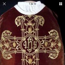Antigüedades: CASULLA BORDADA EN ORO. Lote 100692090