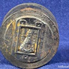 Antigüedades: TROQUEL MATRIZ CUÑO ORFEBRE PARA FABRICAR MEDALLA VIRGEN NTRA SRA DE BEGOÑA S XX ACERO 3,5X3C. Lote 100698115
