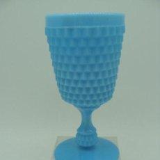 Antigüedades - Copa de opalina azul - Siglo XX - 100716883