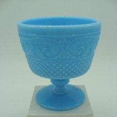 Antigüedades: COPA DE OPALINA AZUL - SIGLO XX. Lote 100717051